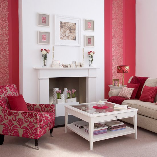 Red interior decor 4 kate byer interior design - Red white interior design ...