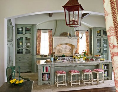 Shabby Chic Colors Style : Beautiful french style shabby chic vintage interior design kitchen