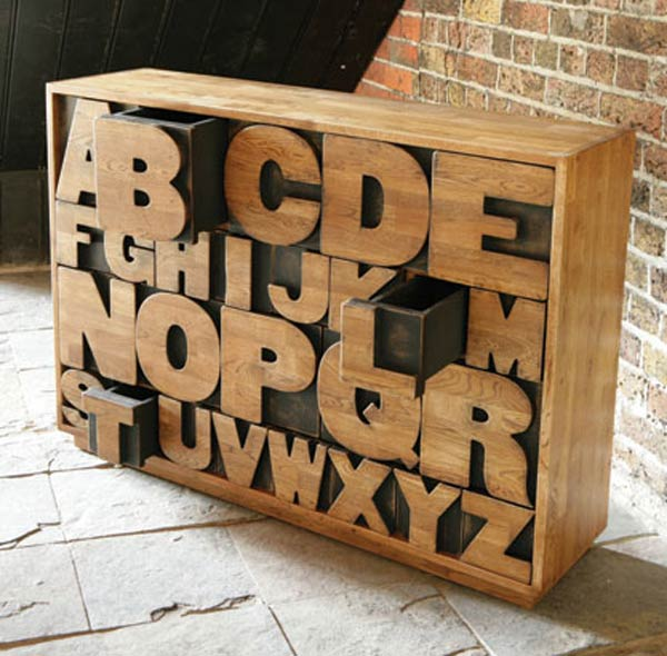 Alphabet Drawers Wood Furniture Kate Byer Interior Design