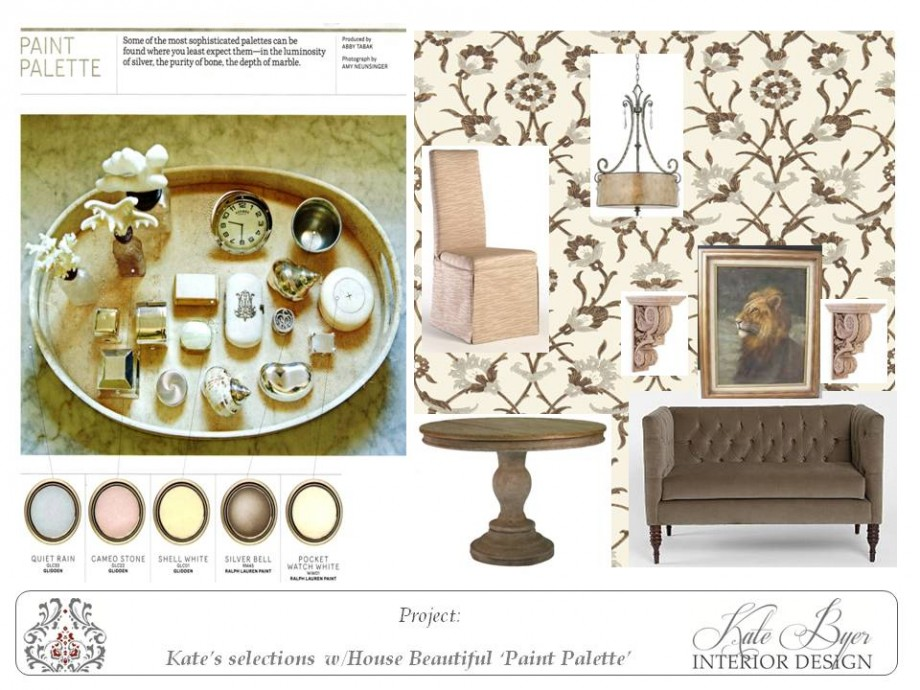 Feminine dining room decor and pale paint colors