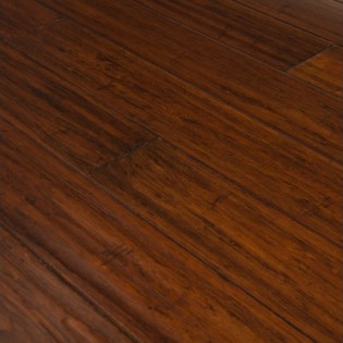 Strand. Woven solid eucalyptus, cognac, hand-scraped, tongue & groove