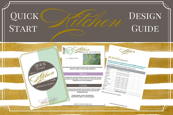 Opt in page for quick start kitchen design guide kate for Kitchen design guide
